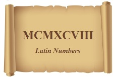 Latin Numbers and Words
